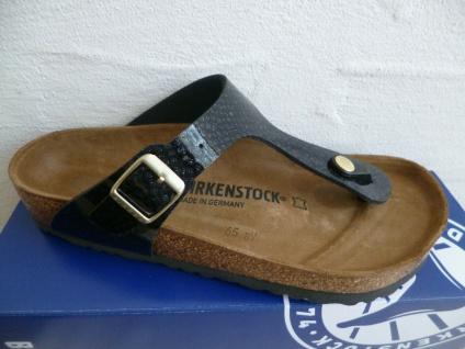 Birkenstock Gizeh Zehentrenner Pantoletten Sandale Magic Snake Black 1009113 NEU