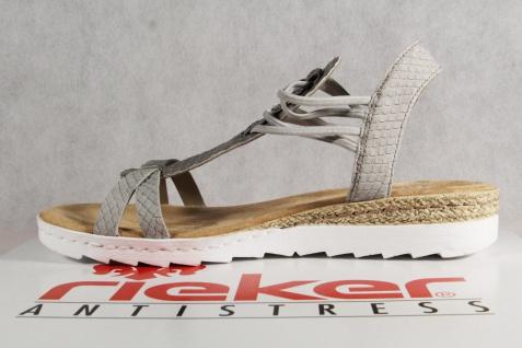 Rieker Damen 63029 Sandalen Sandaletten Sandale grau 63029 Damen NEU!! dd1926
