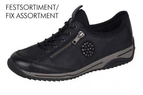 Rieker Sneakers L5263 Damen Slipper Halbschuhe, Sneakers Rieker schwarz NEU! a83dcc