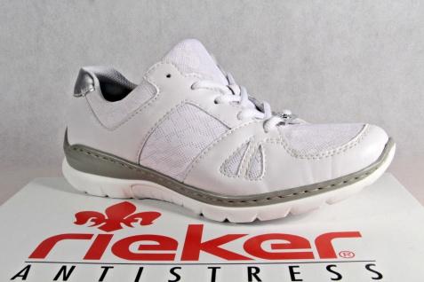 Rieker Damen Schnürschuhe Sneakers Sportschuhe Sportschuhe Sportschuhe Halbschuhe weiß L3242 NEU! 628948