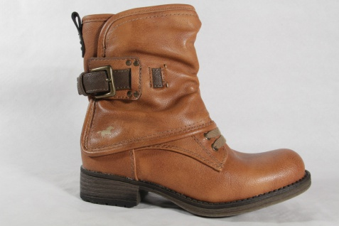 Mustang Stiefel, Stiefelette, Boots, braun, RV, gefüttert, Kunstleder, 5026 NEU