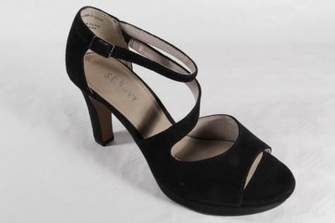 s.Oliver Sandalen Sandaletten schwarz Pumps Echtleder schwarz Sandaletten 28323 NEU!! Beliebte Schuhe f2d9d7