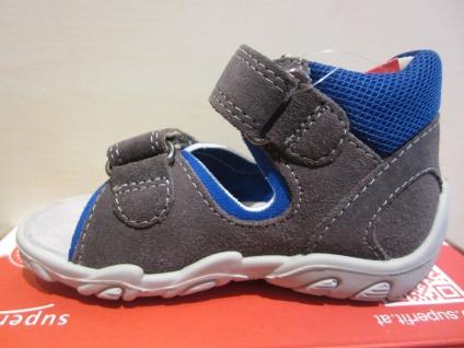 Superfit KV Lauflern Sandale Sandalette grau/blau KV Superfit Leder Lederfußbett Neu !!! 97a479