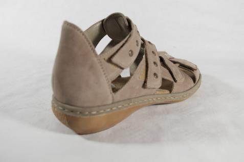 Rieker Damen Innensohle, Sandale, beige, Klettverschluß, weiche Innensohle, Damen NEU!! 1b68aa