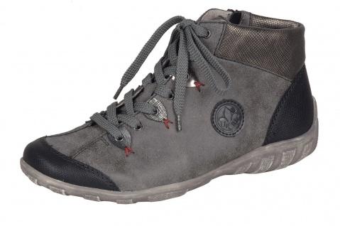 Rieker L6513 Sneaker Damen Stiefel Stiefelette Schnürschuhe, Sneaker L6513 grau kombi NEU! a27b00