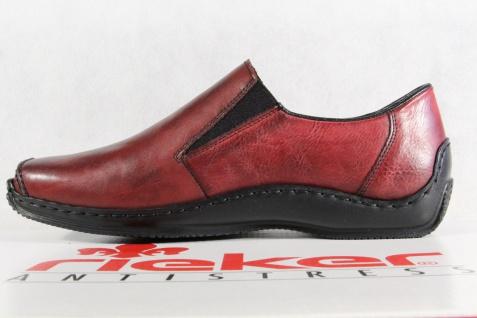 Rieker Damen Slipper Beliebte Halbschuhe, Sneakers Leder weinrot L1783 NEU! Beliebte Slipper Schuhe 0a002a