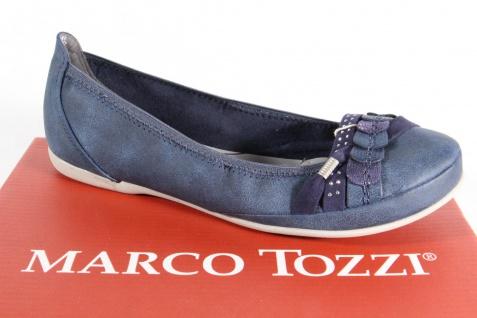Marco Tozzi Slipper Ballerina Pumps blau NEU!!