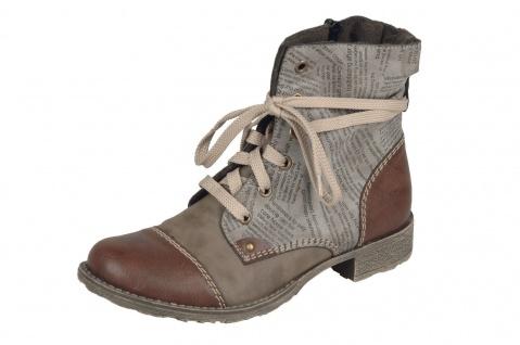 Rieker Damen Stiefel Schnürstiefel Stiefelette Boots braun 70822 NEU