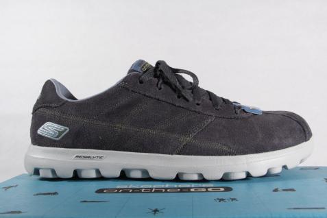 Skechers Herren Schnürschuhe Slipper Sneakers Halbschuhe Echtleder grau Beliebte NEU! Beliebte grau Schuhe a90ddc