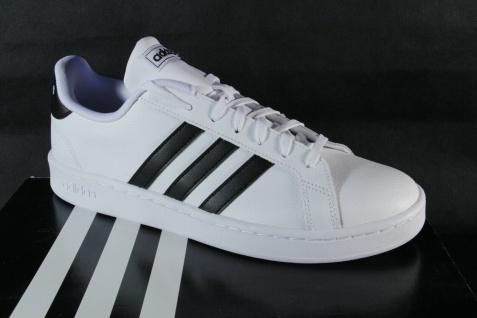 Adidas Sneakers Grand Court F36392 Sneaker Sportschuhe weiß/scharz Leder NEU!