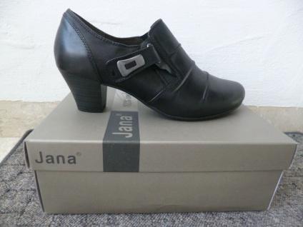 Jana Soft Line Damen Pumps Slipper Ballerina schwarz Leder Weite H NEU!