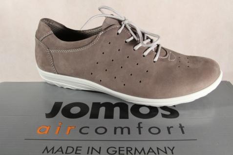 Jomos Damen Schnürschuhe, Halbschuhe, Sneakers Leder grau 854306 NEU!