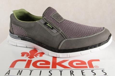 Rieker Herren Slipper Sneaker Halbschuhe B4870 grau NEU