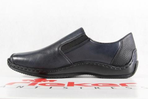 Rieker Damen Leder Slipper Halbschuhe, Sneakers Leder Damen blau L1781 NEU! 47cee9