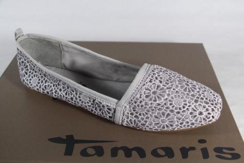 Damen Ballerina Slipper Textil Pumps Textil Slipper grau NEU!! 7ce737