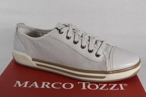 Marco Tozzi Halbschuhe Schnürschuhe Sneakers Halbschuhe Tozzi Echtleder weiss NEU! 1b19b5
