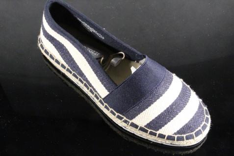 Marco Tozzi Damen Slipper 24214 Ballerinas Textil blau-weiß 24214 Slipper NEU! 8ec6c0