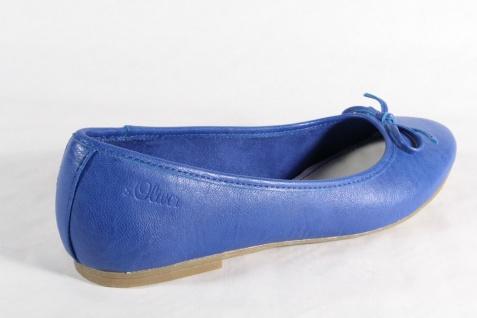 S.Oliver Ballerina Pumps Slipper Halbschuhe Pumps Ballerina blau, Lederinnensohle NEU!! bc3d34