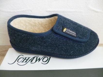 Schawos Herren Hausschuhe Hausschuh Pantoffel blau NEU!!