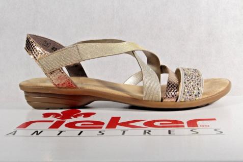 Rieker Damen beige/ Sandalen Sandaletten Sandale Pantoletten beige/ Damen kupfer V3463 NEU!! 776948