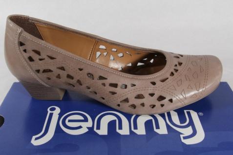 Jenny by Ara Pumps, Leder, pfeffer, Weite G, Lederfußbett NEU!