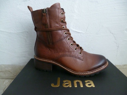 Jana Damen Stiefel Stiefeletten Stiefelette Boots Winterstiefel braun NEU!