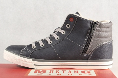 Mustang Stiefel blau Stiefel Schnürstiefel Winterstiefel blau Stiefel 4096 NEU !! 8fafbd