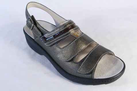Fidelio Damen Lederfußbett Sandale bronze, Klettverschluß, Leder Lederfußbett Damen 23443 NEU! Beliebte Schuhe 57c732