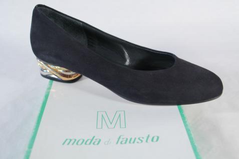 moda Pumps, di fausto Damen Pumps, moda schwarz, Ledersohle, Lederfutter NEU!! eb7172