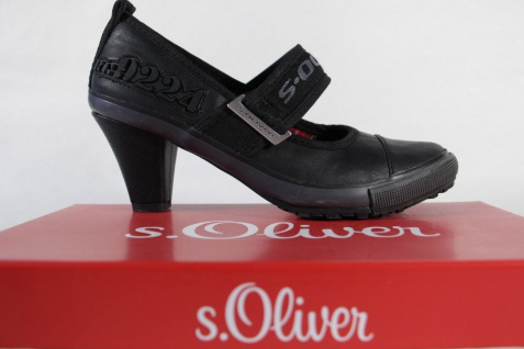S.Oliver Pumps, schwarz, schwarz, schwarz, Lederinnensohle, NEU! 2dc46c