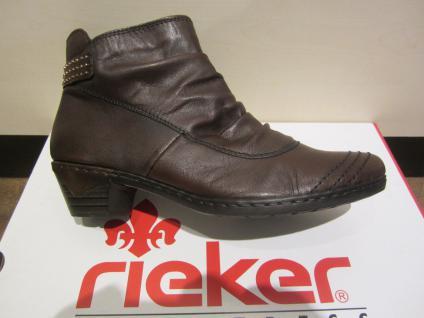 Rieker Stiefel Stiefelette Stiefelette 76954 braun, Leder, leicht gefüttert 76954 Stiefelette NEU 53630b