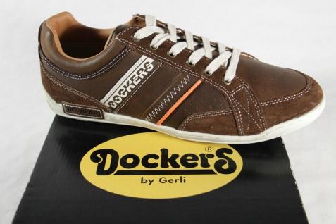 Dockers Herren Schnürschuh, braun, für lose Einlagen geeignet, Leder 32CE016 NEU!
