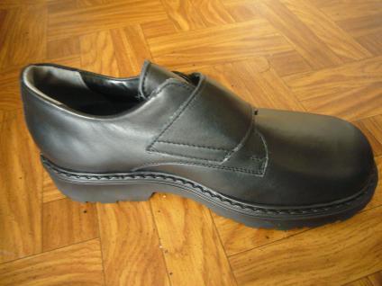 Mega Gaga Jungen Slipper schwarz Leder Schuh Kinderschuh Neu! - Vorschau 3