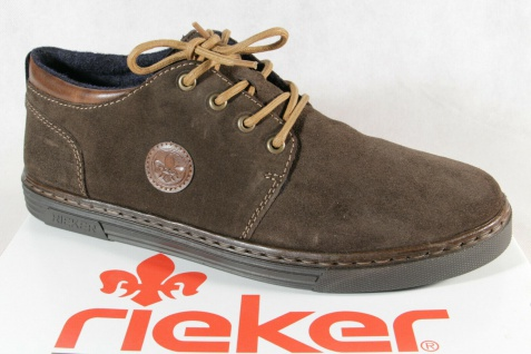 Rieker Herren Schnürschuhe Halbschuhe Sneakers Leder braun B4941 NEU!