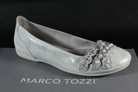 Marco Tozzi Ballerinas Slipper Halbschuhe Pumps weiß/ silber 22126 NEU!!