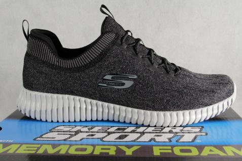 Skechers Elite-Flex Slipper Sneakers Halbschuhe schwarz grau 52642 NEU! - Vorschau 2