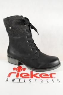 Rieker Damen Stiefel schwarz Stiefeletten Schnürstiefel schwarz Stiefel Y9704 NEU! ad6a4f