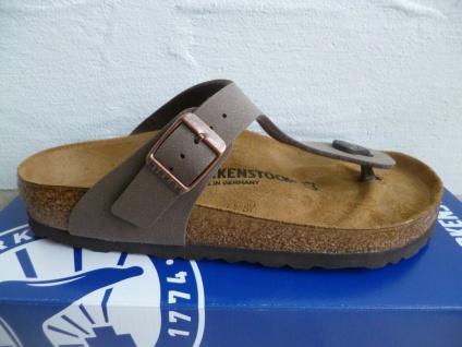 Birkenstock Gizeh Zehentrenner Pantolette Pantoletten Sandale mocca 43751 NEU!