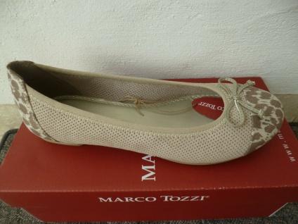 Marco Tozzi Damen Slipper Ballerina Ballerinas beige NEU!