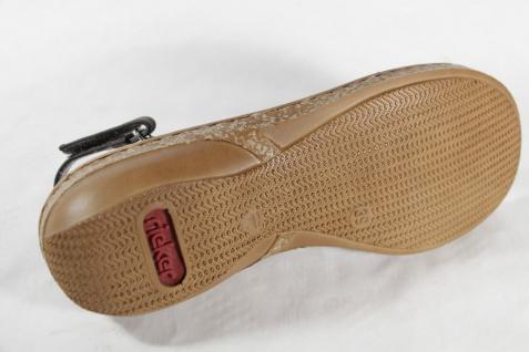 Rieker Damen Innensohle Sandalen Sandaletten grau, weiche Innensohle Damen KV 62883 NEU!! 6066a2