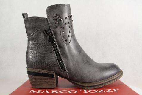 Marco leicht Tozzi Stiefel, Stiefelette, grau, leicht Marco gefüttert, 25361 NEU!! ea42f9