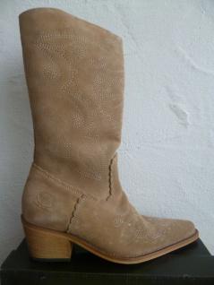 Dockers Cowboystiefel Westernstiefel Stiefel Motorradstiefel Boots beige Leder - Vorschau 5