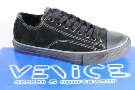 Venice Schnürschuh, Sneaker, Sportschuh, gefüttert, schwarz Gummisohle NEU