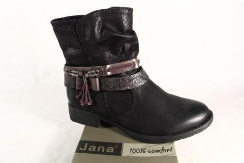 Jana Stiefelette 25412 Stiefel, Boots, weiche Innensohle, schwarz NEU