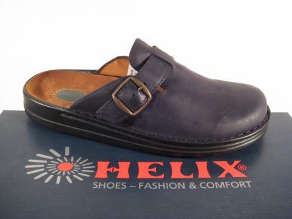 Helix Clogs Pantolette Pantoletten schwarz Lederfußbett!! Echt Leder Luftpolster Lederfußbett!! schwarz 06da26