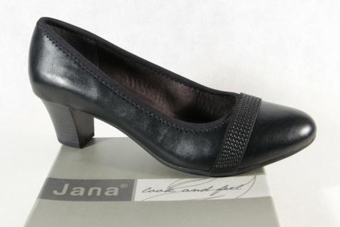 Jana Damen Pumps Soft Line Slipper Ballerina schwarz Weite H NEU!