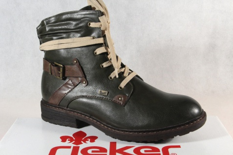 Rieker-Tex Schnürstiefel Boots Stiefelette Stiefel grün 94740 NEU!