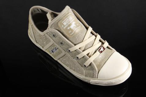 Mustang Schnürschuhe Sneakers Sportschuhe Halbschuhe Beige/ silber NEU NEU NEU Beliebte Schuhe 3ca021