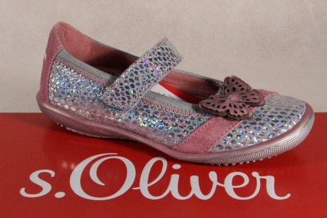 S.Oliver Ballerina Slipper Ballerinas silber/rosé Leder Lederinnensohle NEU!!