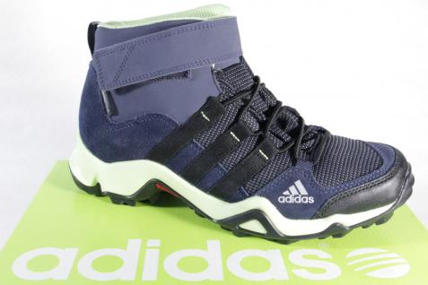 Adidas Stiefel Boots wasserdicht Leder/Textil blau/gelb Climaproof NEU!